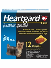 Heartgard Plus for Dogs - Up to 25 lbs (12 Chews)