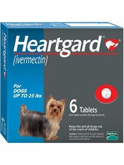 Heartgard Tabs for Dogs up to 25 lbs (6 Month)