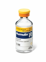 Humulin R Insulin 100 units/mL (3 mL Vial)