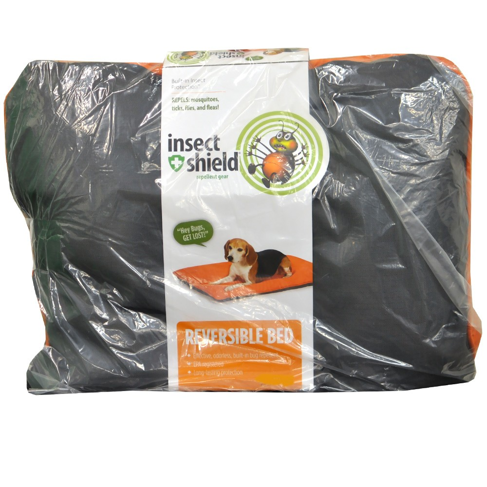 Insect Shield Reversible Bed Medium - Grey/Orange IE96123011