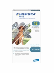 Interceptor Plus for Dogs 50.1-100 lbs Blue (12 Chews)