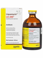 Liquamycin LA-200 (Oxytetracycline) Antibiotic Injection