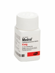Medrol (methylprednisolone) 4mg (500 tabs) (Manufacturer may vary)