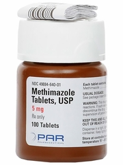 Methimazole (Manufacturer may vary)