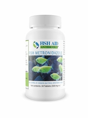 Fish Aid Metronidazole Tablets 500 mg, 30 Tablets