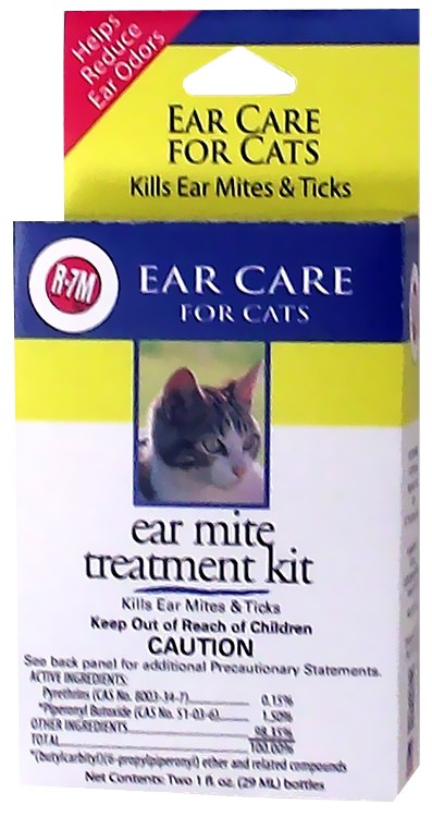 Miracle Care R 7m Ear Mite Treatment Kit For Cats 2 Oz