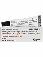 NeoPoly Bac Ophthalmic Ointment (Manufacturer may vary)