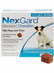 NexGard Chewables for Dogs 10-24 lbs (12 Chews) Blue