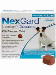 NexGard Chewables for Dogs 10-24 lbs (3 Chews) Blue