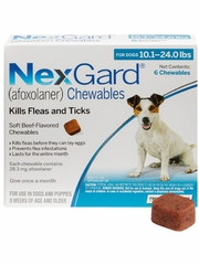 NexGard Chewables for Dogs 10-24 lbs (6 Chews) Blue