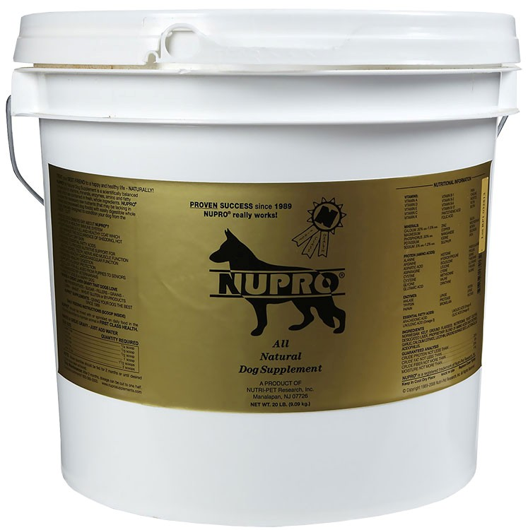 Nupro All Natural Dog Supplement 20 Lb On Sale Entirelypets Rx