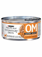 Purina Pro Plan Veterinary Diets - OM Overweight Management Savory Selects in Sauce Canned Cat Food (24x5.5 oz)