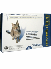 Revolution for Cats - 5.1-15 lbs (3 Doses)