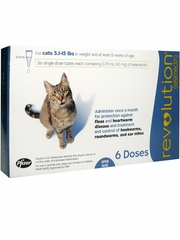 Revolution for Cats - 5.1-15 lbs (6 Doses)