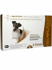 Revolution for Dogs, 10.1-20 lbs (6 Doses)