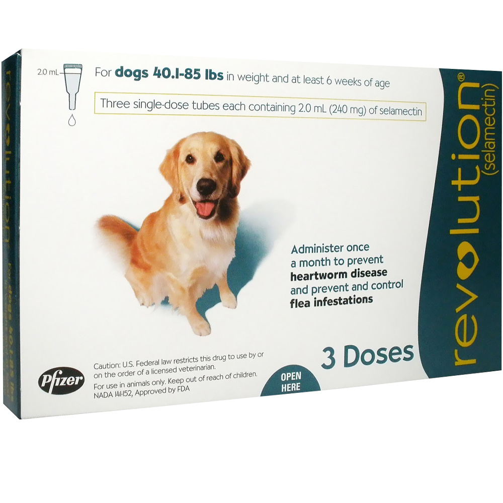 Revolution For Dogs 40 1 85 Lbs 3 Doses