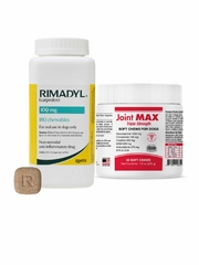 Rimadyl (Carprofren) 100 mg, 180 Chewable Tablets with Free Joint Max