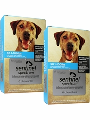 Sentinel Spectrum for Dogs 50.1-100 lbs (12 Chews)