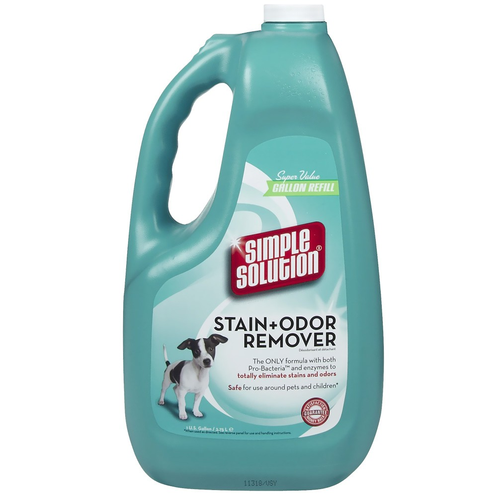 SIMPLE SOLUTION Stain & Odor Remover for CATS & DOGS (1 GALLON) BRAM11051