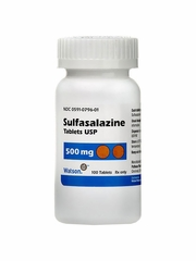 Sulfasalazine 500mg (100 Tabs) (Manufacturer may vary)