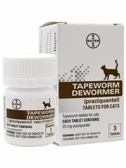 Tapeworm Dewormer for Cats (3 Tablets)