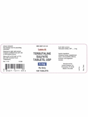 Terbutaline 5mg (100 Tabs) (Manufacturer may vary)