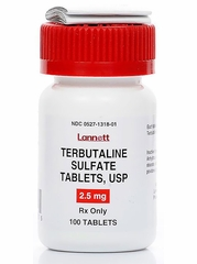 Terbutaline (Manufacturer may vary)