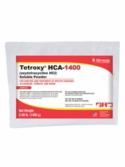 Tetroxy-HCA-1400 Soluble Powder (Oxytetracycline HCl) - 1400gm