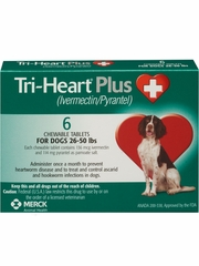 Tri-Heart Plus for Dogs 26-50 lbs (6 Chew Tabs)