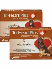 Tri-Heart Plus for Dogs 51-100 lbs (12 Chew Tabs)