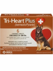 Tri-Heart Plus for Dogs 51-100 lbs (6 Chew Tabs)