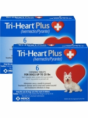 Tri-Heart Plus for Dogs Up to 25 lbs (12 Chew Tabs)