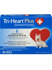 Tri-Heart Plus for Dogs Up to 25 lbs (6 Chew Tabs)