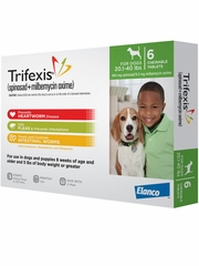 Trifexis For Dogs - 20.1-40 lbs (6 Chew Tabs)