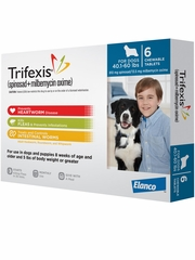 Trifexis For Dogs - 40.1-60 lbs (6 Chew Tabs)