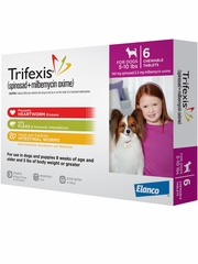 Trifexis For Dogs - 5-10 lbs (6 Chew Tabs)