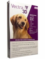 Vectra 3D for Dogs 56-95 lbs, 6 Doses