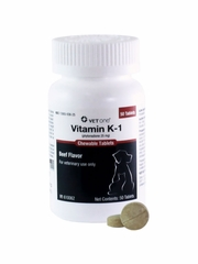 Vitamin -K1 For Dogs & Cats 25mg (50 chew tabs)