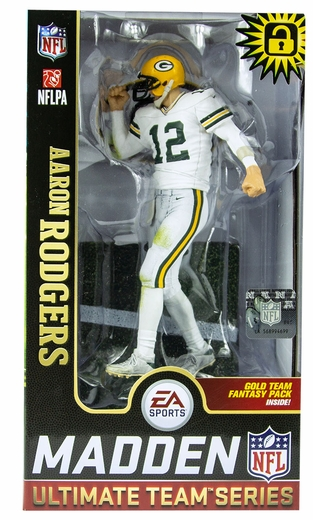 Aaron Rodgers (Green Bay Packers) EA Sports Madden NFL 19 Ultimate Team Series 1 McFarlane