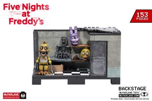 Backstage w/ Chica (Five Nights at Freddy's) Medium Construction Set by McFarlane