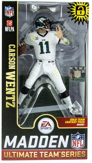Carson Wentz (Philadelphia Eagles) EA Sports Madden NFL 19 Ultimate Team Series 1 McFarlane