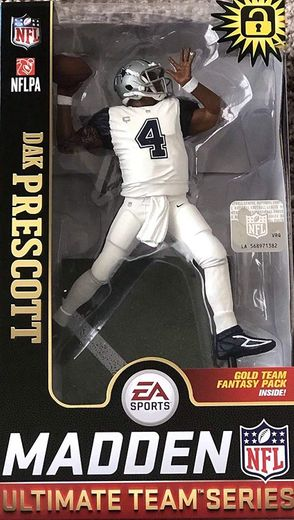 Dak Prescott (Dallas Cowboys) EA Sports Madden NFL 19 Ultimate Team Series 1 McFarlane Exclusive