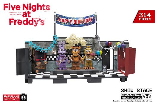 The Show Stage w/ Freddy, Bonnie and Chica (Five Nights at Freddy's) Large Construction Set by McFarlane