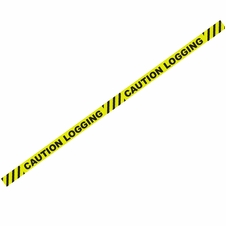 "1000' x 3"" Caution Logging Yellow Barricade Tape"