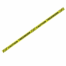 "1000' x 3"" Caution Treework Yellow Barricade Tape"