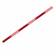 "1000' x 3"" Danger Red Barricade Tape"