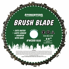 "Forester 10"" Chainsaw Chain Loop Brush Cutter Blade - 1"" / 20mm Arbor"