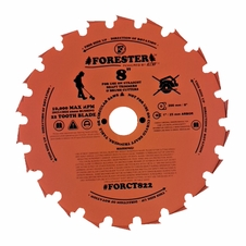 "Forester 22 Tooth Chisel Tooth Brush Cutter Blade - 8"" Diameter x 1"" or 20mm Arbor"