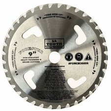 "Forester 36 Tooth Carbide Tip Brush Cutter Blade w/ Venting - 9"" x 1"" / 20mm Arbor"