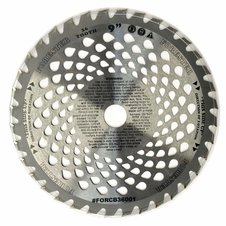 "Forester 36 Tooth Vented Carbide Tip Brush Cutter Blade - 9"" x 1"" / 20mm Arbor"